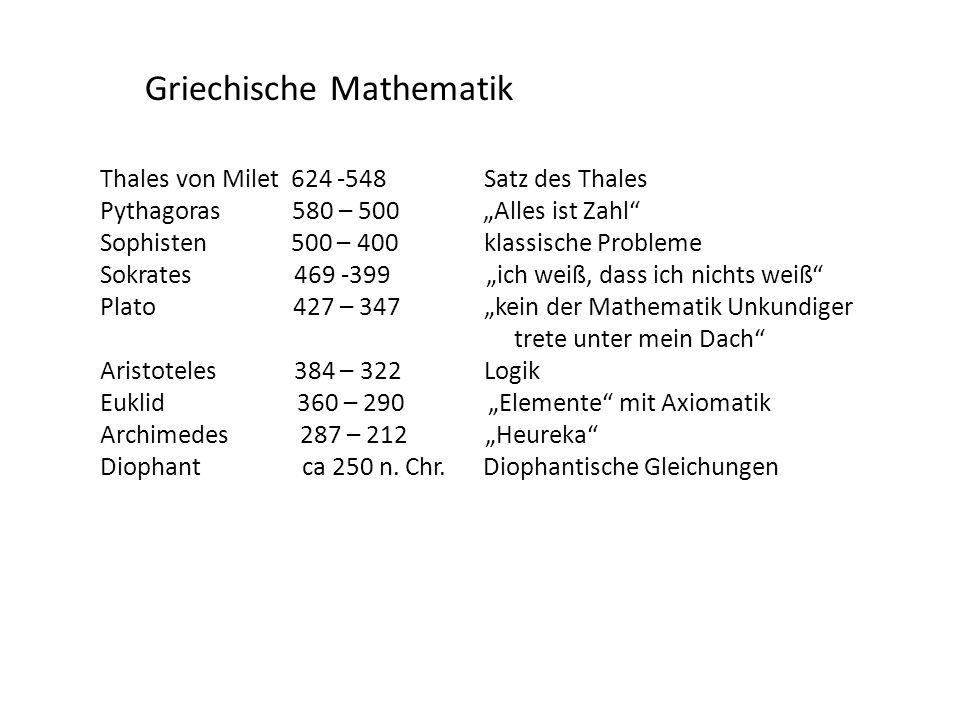 Griechische Mathematik