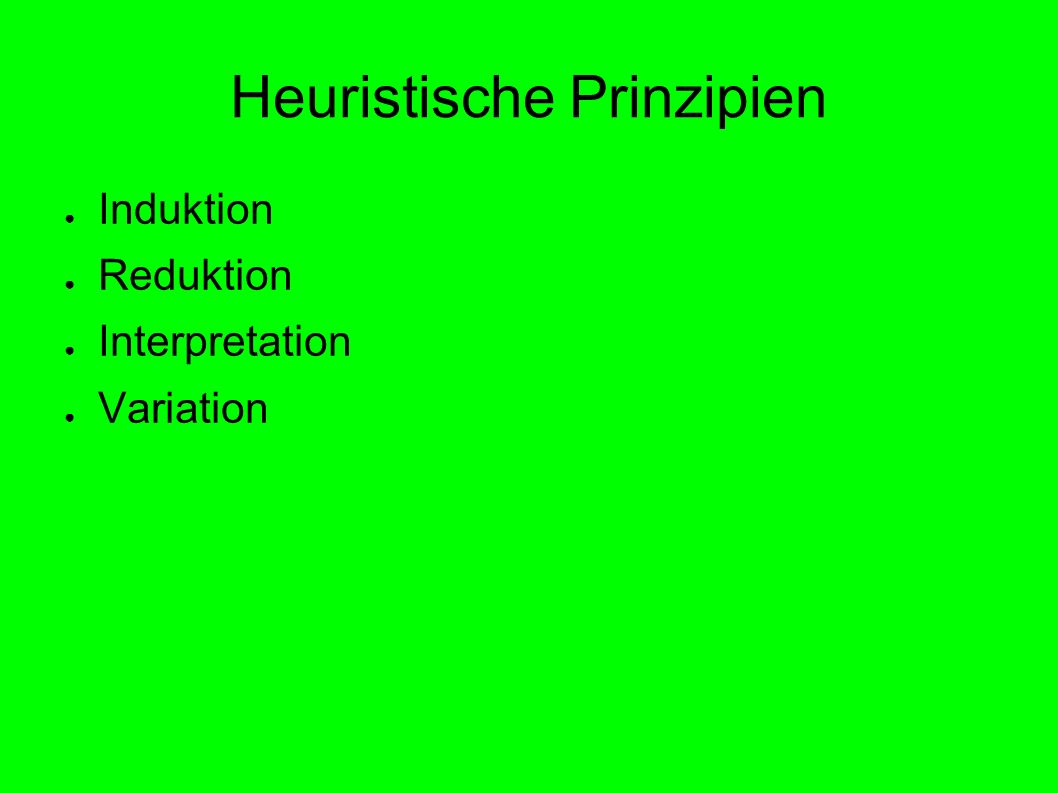 Heuristische Prinzipien