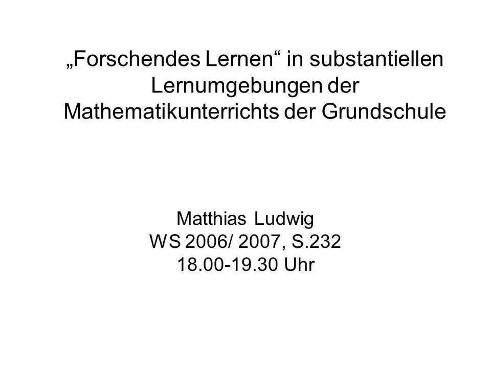 Matthias Ludwig WS 2006/ 2007, S.232 18.00-19.30 Uhr