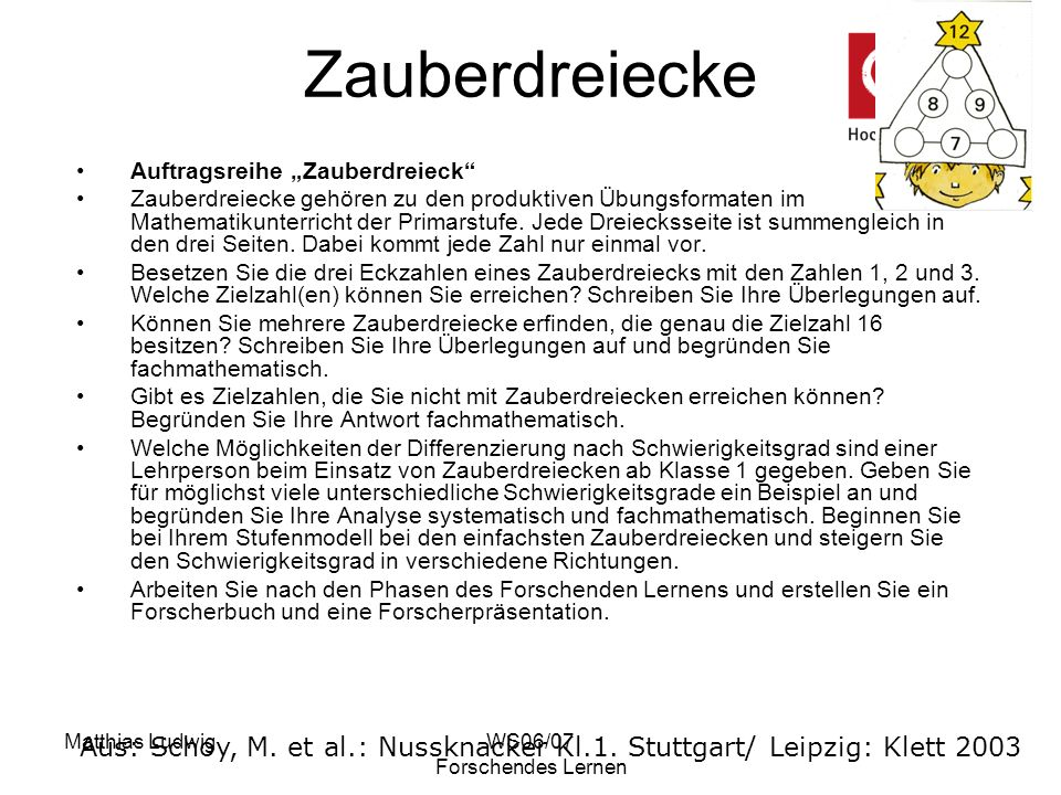 "Zauberdreiecke Auftragsreihe ""Zauberdreieck"