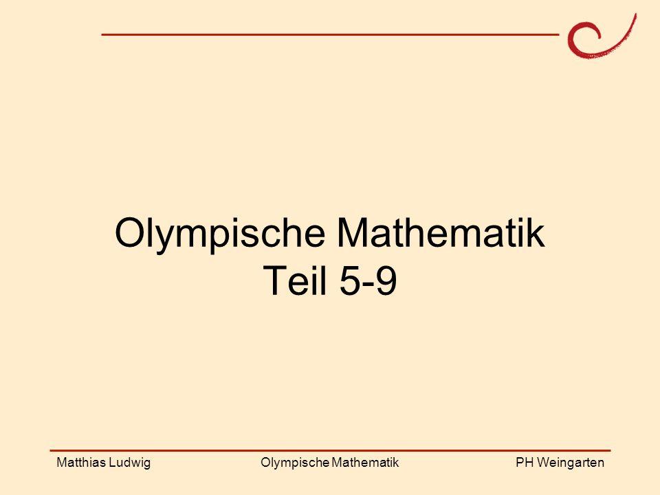 Olympische Mathematik Teil 5-9