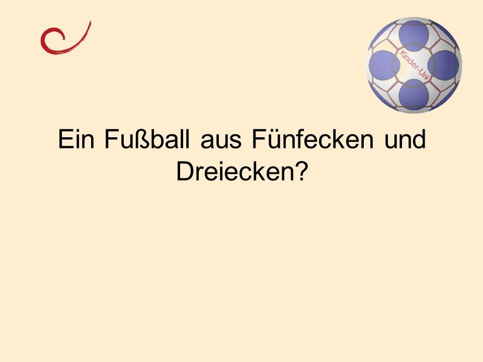 Ein Fußball aus Fünfecken und Dreiecken