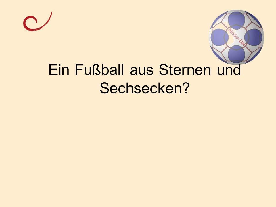 Ein Fußball aus Sternen und Sechsecken