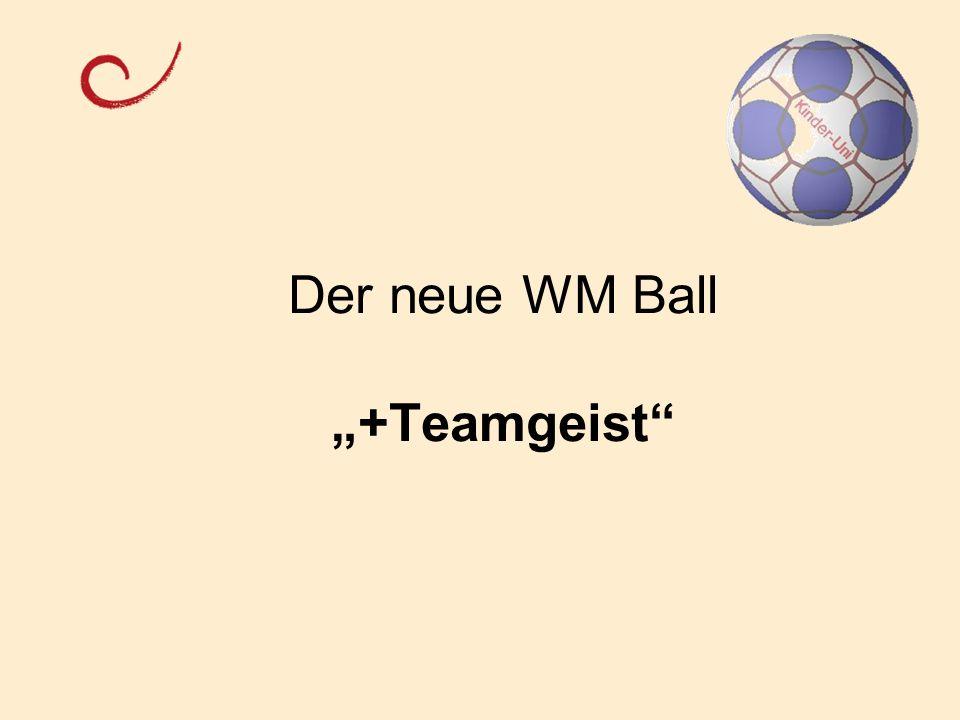 """Der neue WM Ball """"+Teamgeist"""