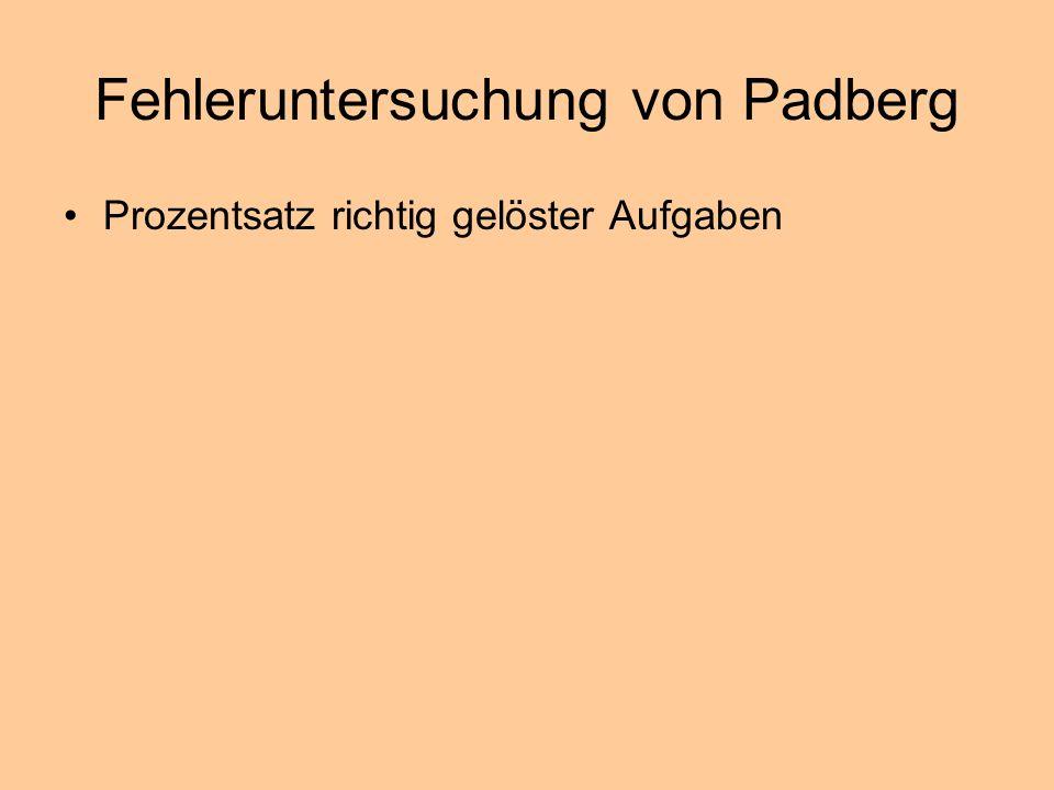Fehleruntersuchung von Padberg