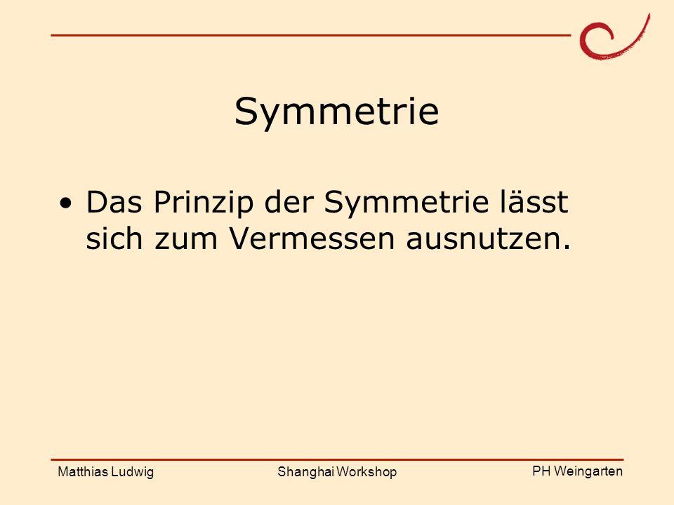 Das Prinzip der Symmetrie lässt sich zum Vermessen ausnutzen.