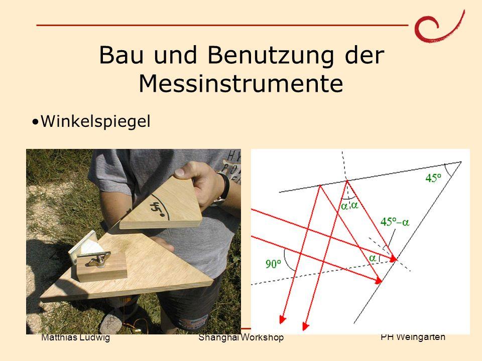 Bau und Benutzung der Messinstrumente