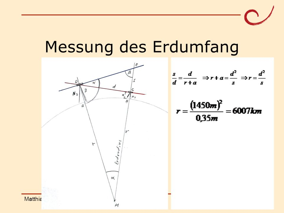 Messung des Erdumfang Matthias Ludwig Shanghai Workshop