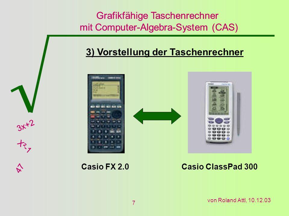 3) Vorstellung der Taschenrechner