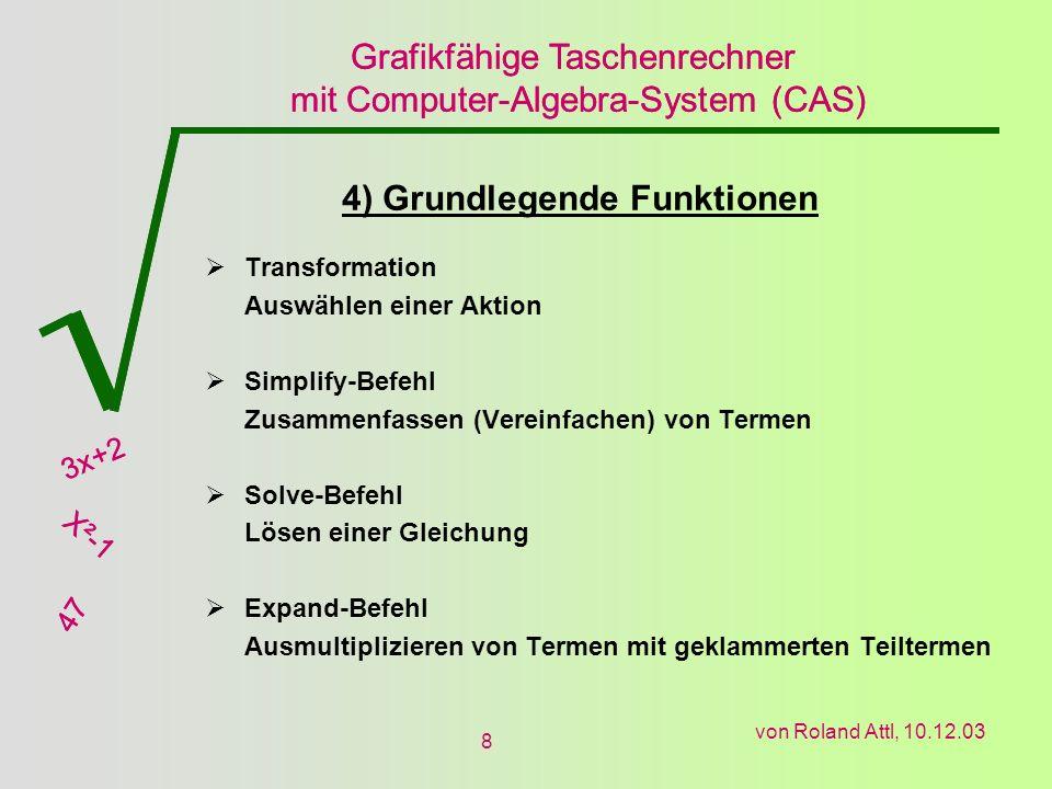 4) Grundlegende Funktionen