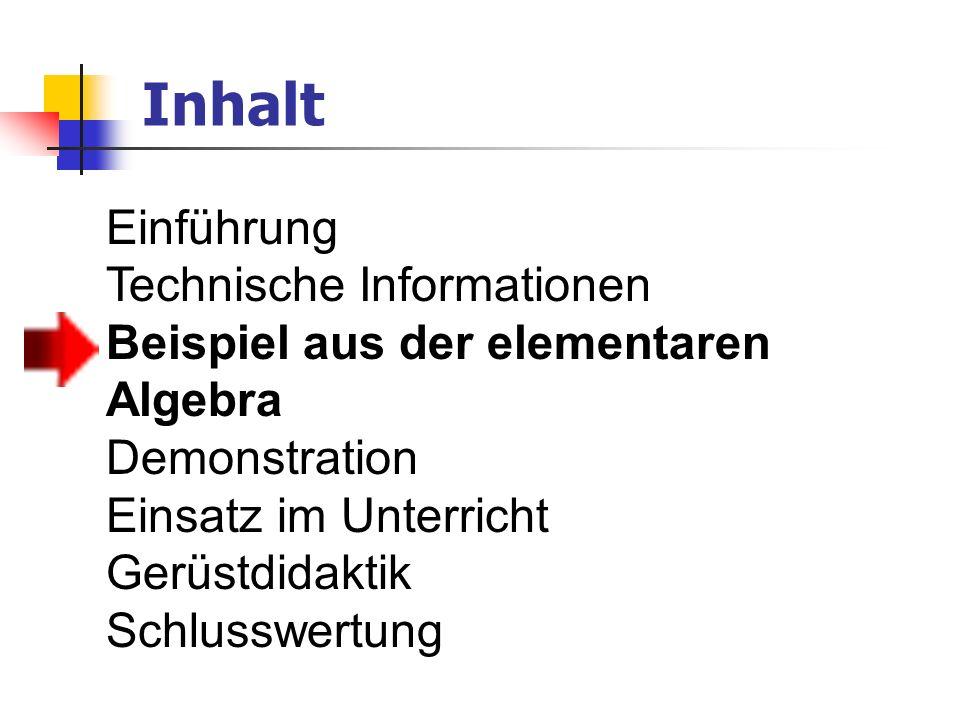 Inhalt Einführung Technische Informationen
