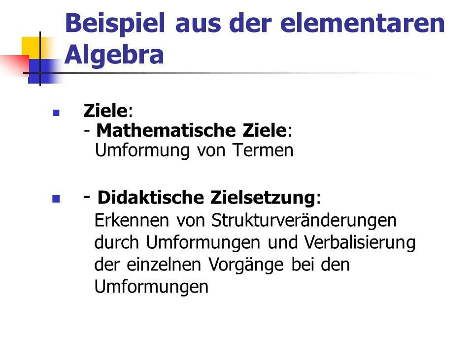 Beispiel aus der elementaren Algebra