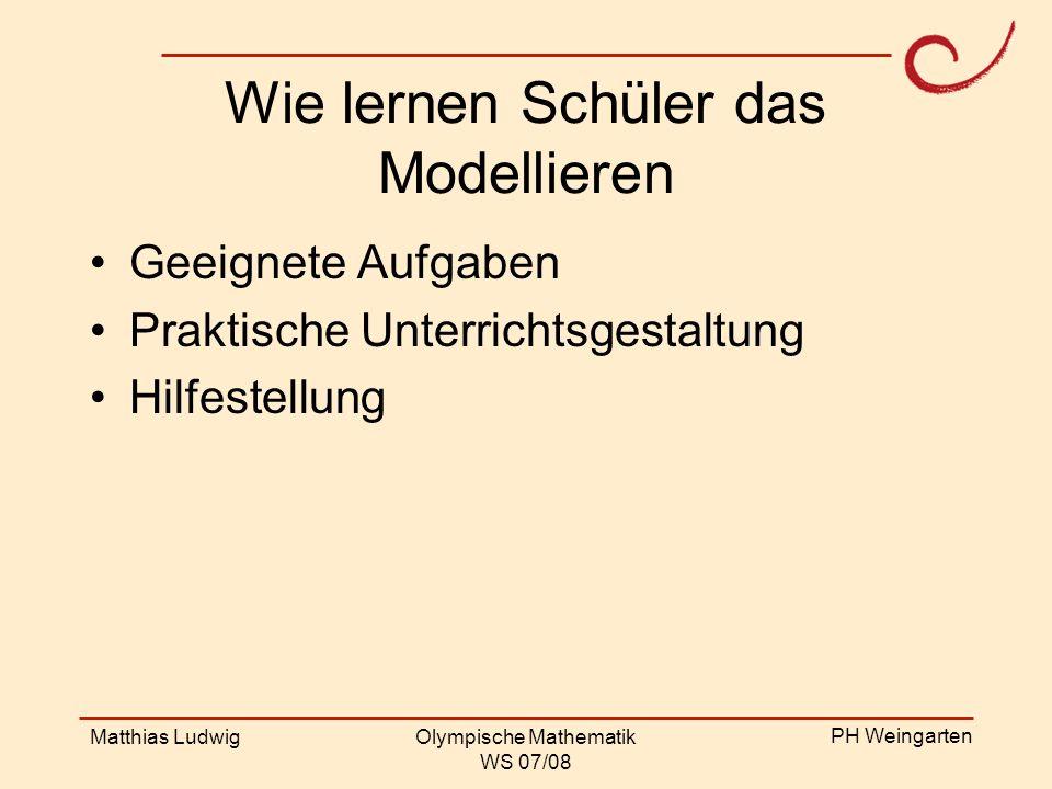 Wie lernen Schüler das Modellieren