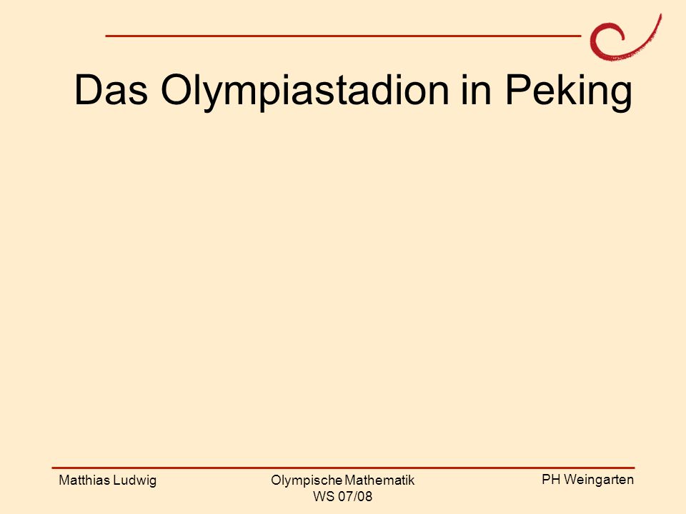 Das Olympiastadion in Peking
