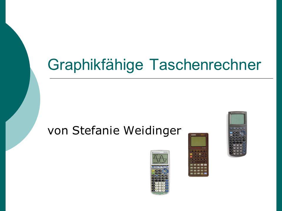 Graphikfähige Taschenrechner