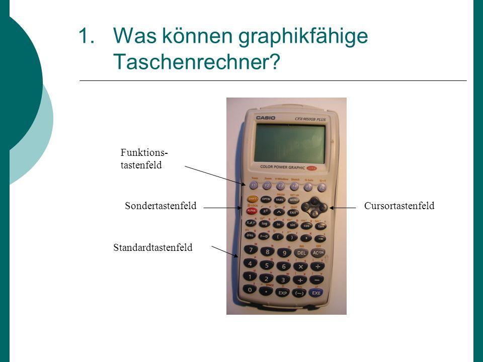 1. Was können graphikfähige Taschenrechner