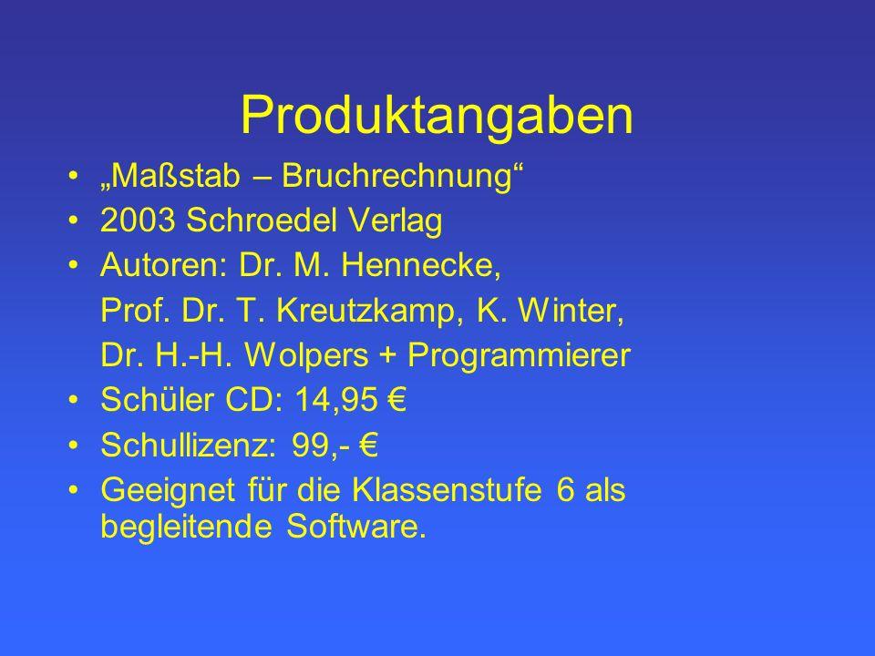 """Produktangaben """"Maßstab – Bruchrechnung 2003 Schroedel Verlag"""