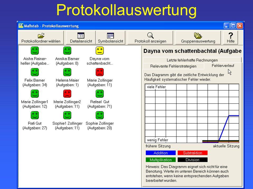 Protokollauswertung
