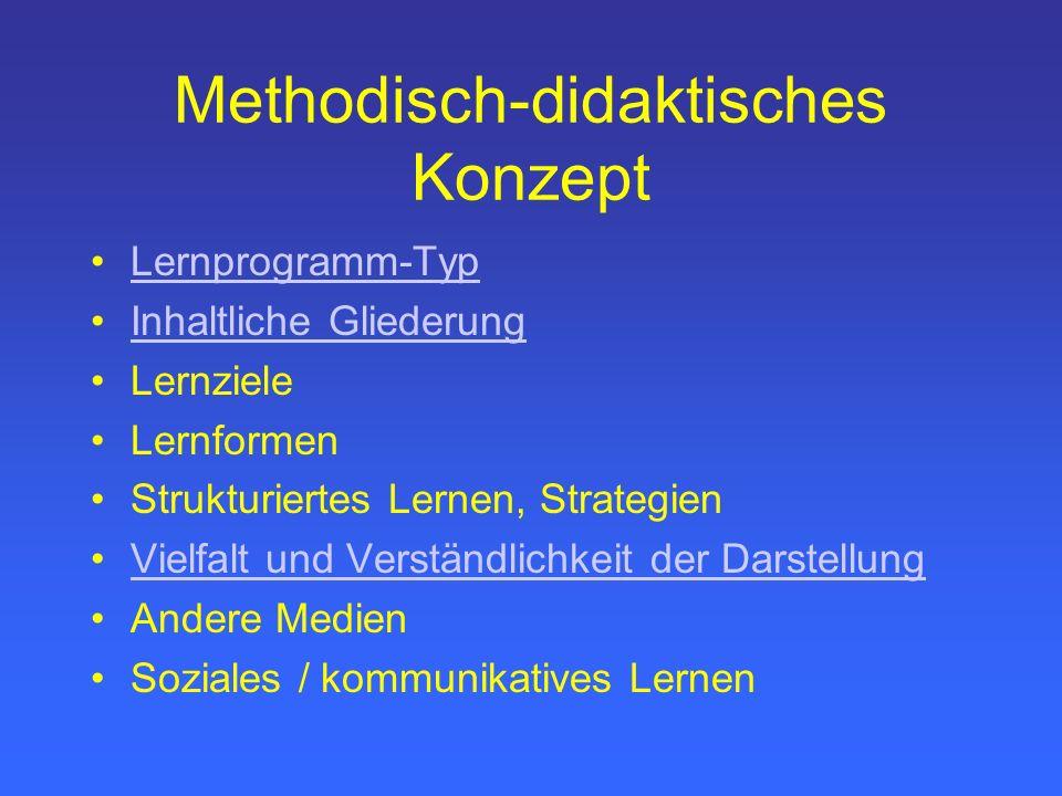 Methodisch-didaktisches Konzept
