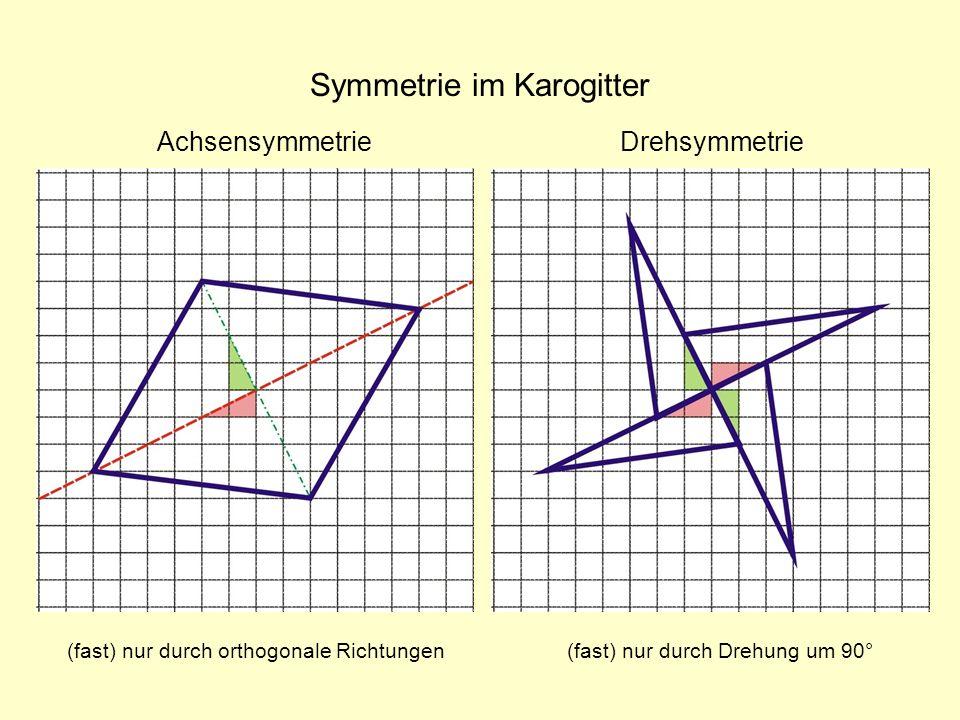 Symmetrie im Karogitter