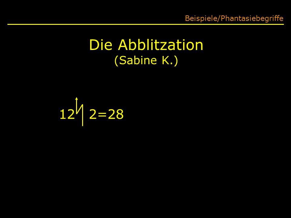 Die Abblitzation (Sabine K.)