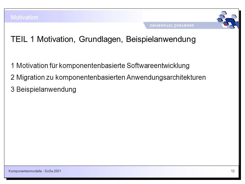 TEIL 1 Motivation, Grundlagen, Beispielanwendung