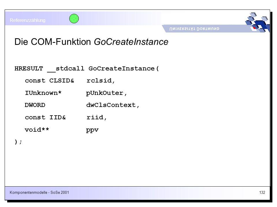 Die COM-Funktion GoCreateInstance