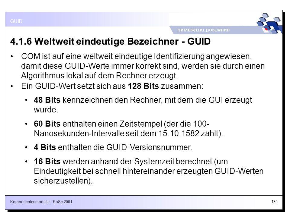 4.1.6 Weltweit eindeutige Bezeichner - GUID