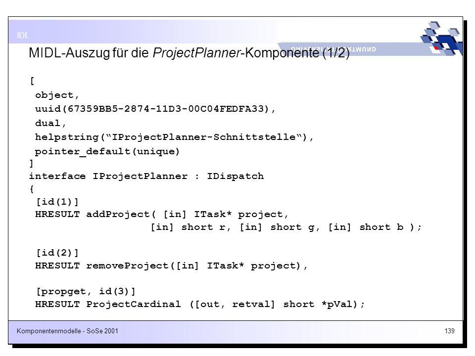 MIDL-Auszug für die ProjectPlanner-Komponente (1/2)