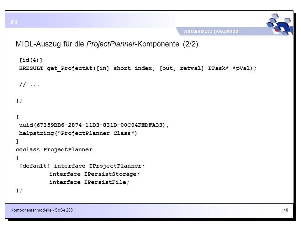MIDL-Auszug für die ProjectPlanner-Komponente (2/2)
