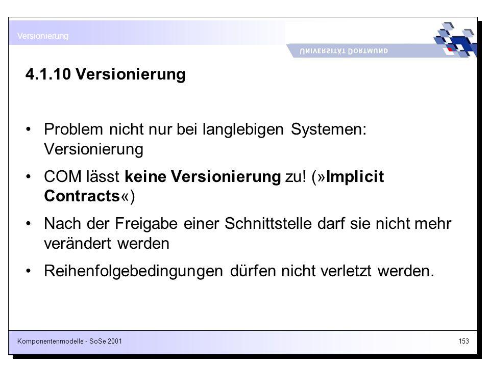 Problem nicht nur bei langlebigen Systemen: Versionierung