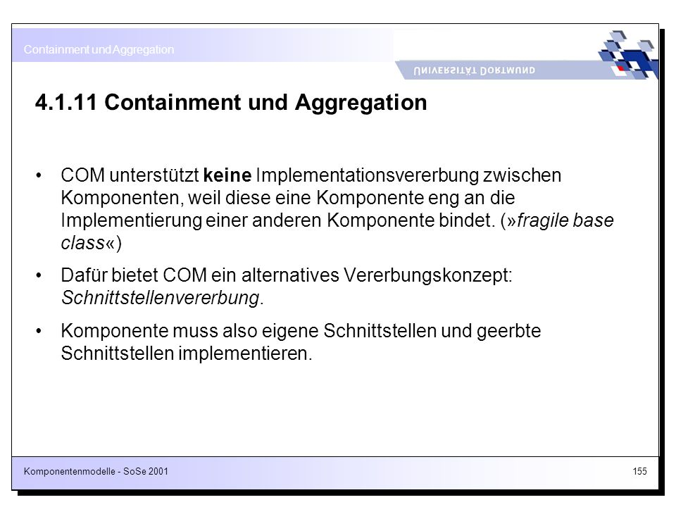 4.1.11 Containment und Aggregation