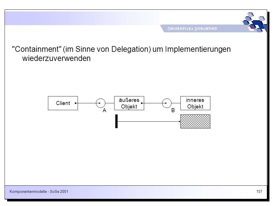 Containment (im Sinne von Delegation) um Implementierungen wiederzuverwenden