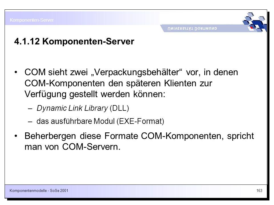 Komponenten-Server 4.1.12 Komponenten-Server.