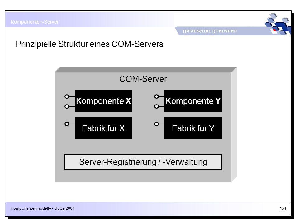 Server-Registrierung / -Verwaltung