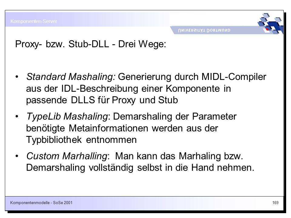 Proxy- bzw. Stub-DLL - Drei Wege: