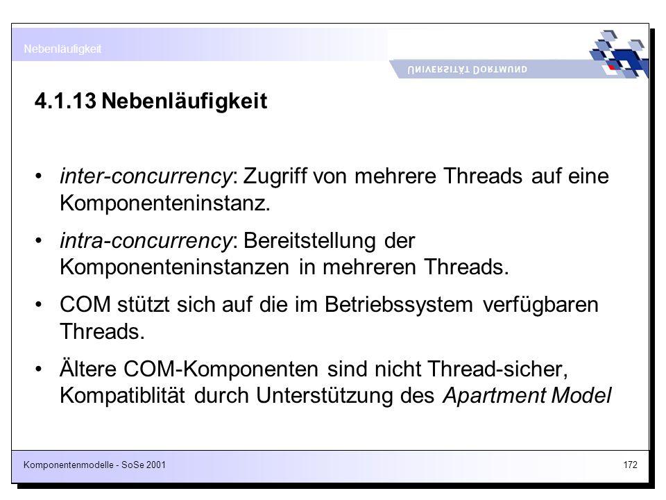 COM stützt sich auf die im Betriebssystem verfügbaren Threads.