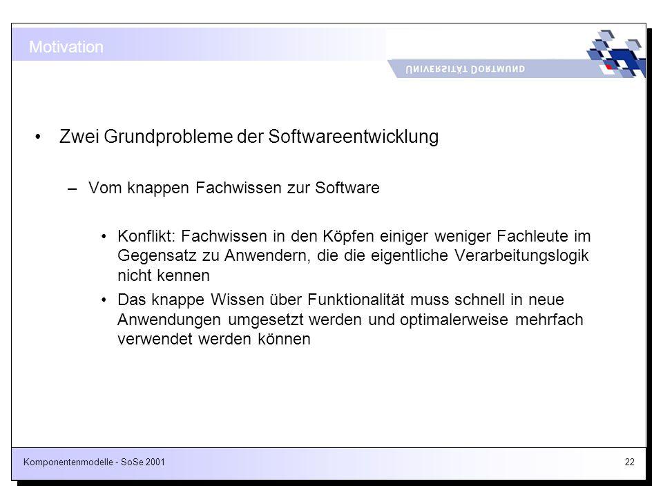 Zwei Grundprobleme der Softwareentwicklung