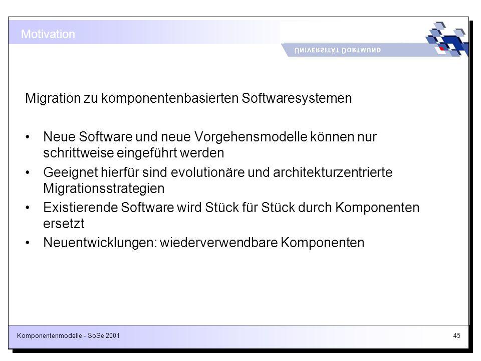 Migration zu komponentenbasierten Softwaresystemen