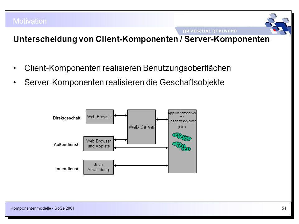 Applikationsserver mit Geschäftsobjekten
