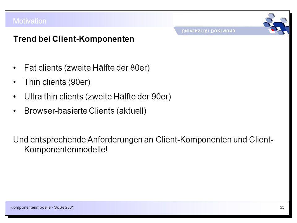 Trend bei Client-Komponenten