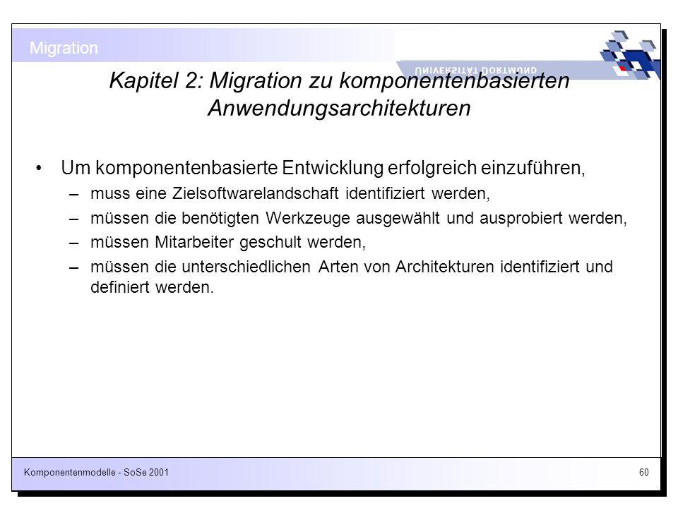 Kapitel 2: Migration zu komponentenbasierten Anwendungsarchitekturen