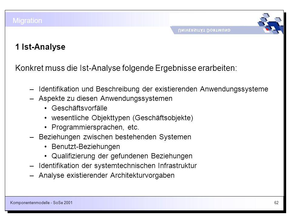 Konkret muss die Ist-Analyse folgende Ergebnisse erarbeiten:
