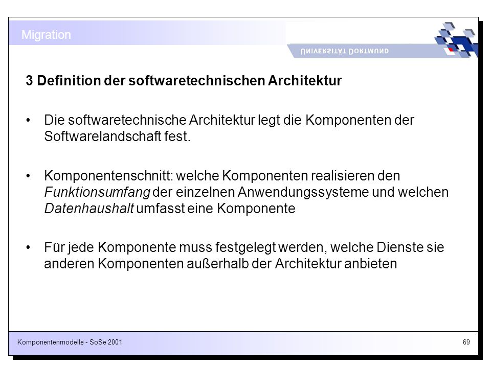 3 Definition der softwaretechnischen Architektur