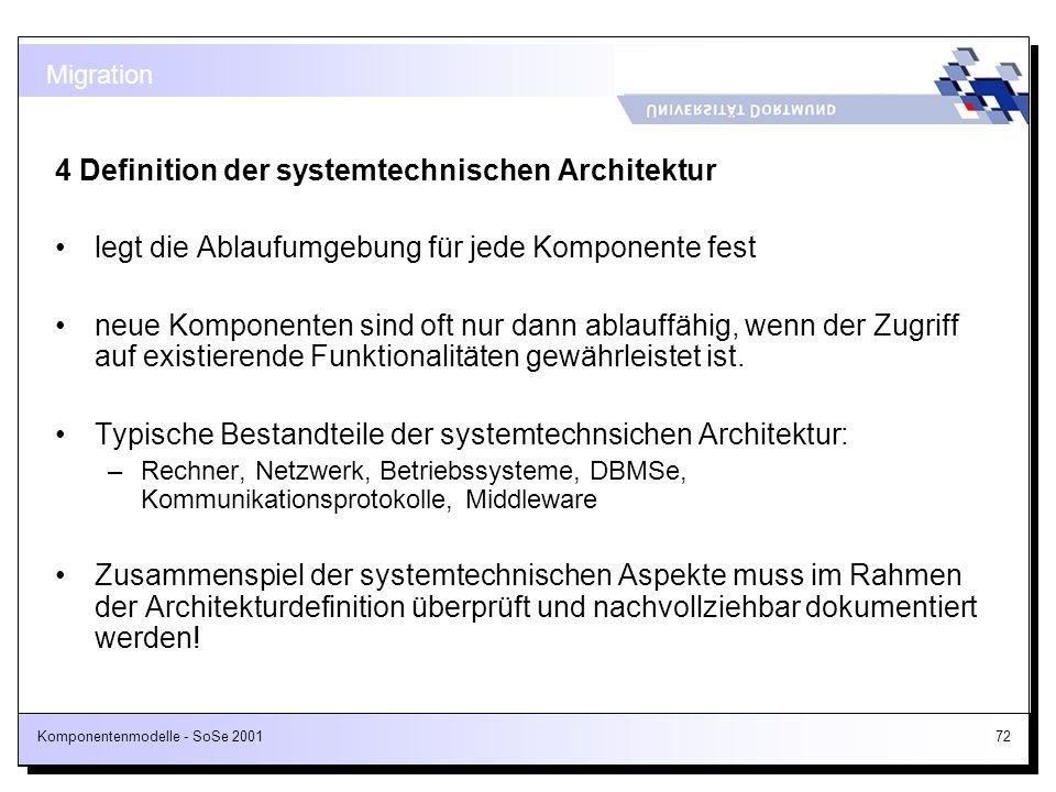 4 Definition der systemtechnischen Architektur