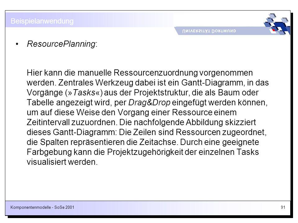 Beispielanwendung ResourcePlanning: