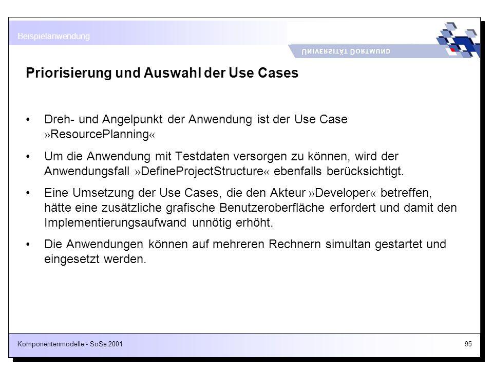 Priorisierung und Auswahl der Use Cases