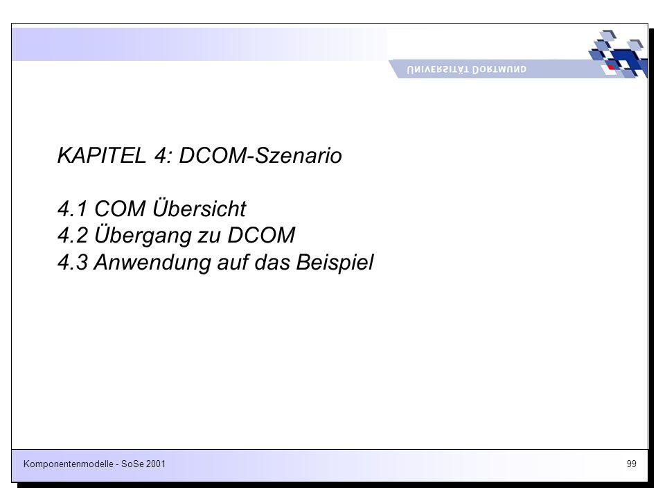 KAPITEL 4: DCOM-Szenario 4. 1 COM Übersicht 4. 2 Übergang zu DCOM 4