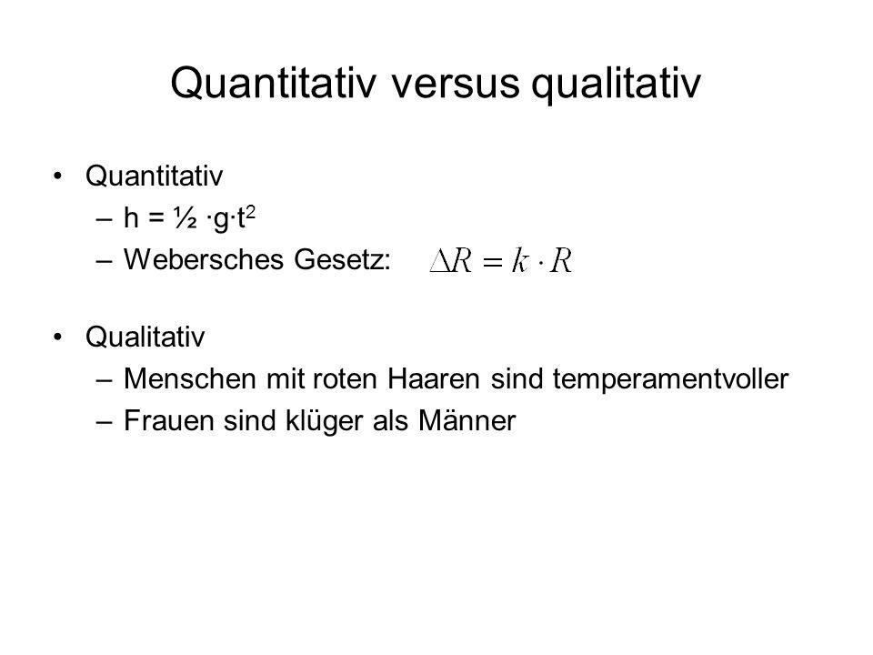 Quantitativ versus qualitativ