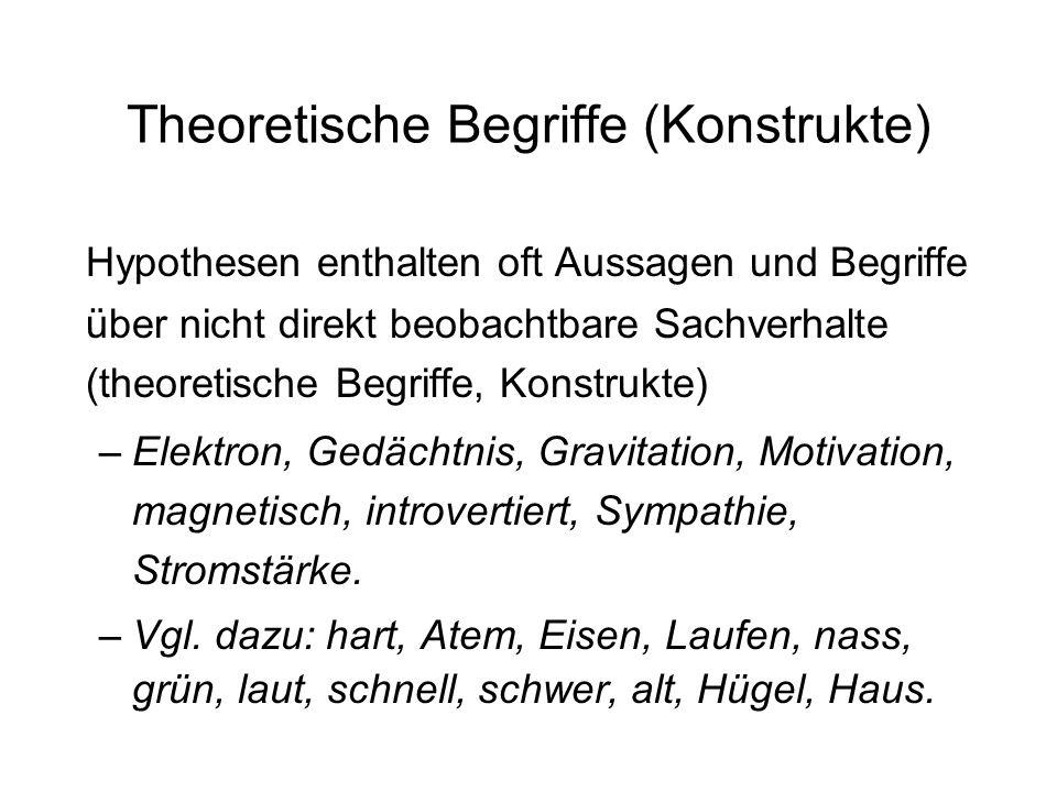 Theoretische Begriffe (Konstrukte)